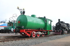 Different locomotives at Railway Museum Stock Images