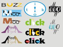 Different logos Royalty Free Stock Photography