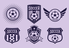 Different logos and icons football teams Royalty Free Stock Image