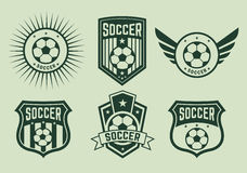 Different logos and icons football teams Royalty Free Stock Photography