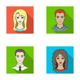 Different looks of young people.Avatar and face set collection icons in flat style vector symbol stock illustration web. Stock Photo