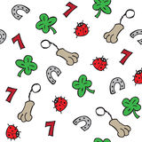 Lucky charms illustration seamless pattern Stock Images