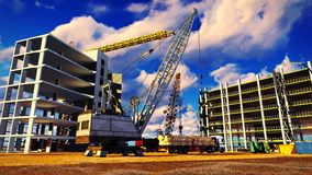 Different machinery at construction site Royalty Free Stock Images