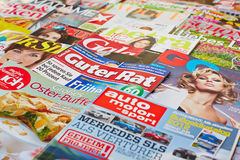 Different magazines Stock Photo