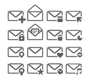 Different mailing web icons isolated on white Royalty Free Stock Images