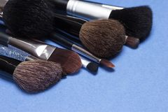 Different makeup brushes Stock Photo