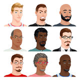 Different male avatars Royalty Free Stock Image