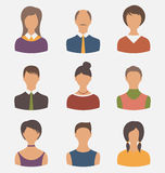 Different male and female user avatars Stock Image