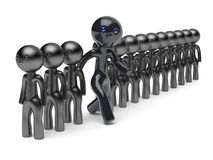 Different man stand out from the crowd character people black. Different man stand out from the crowd character people think differ unique person otherwise run Royalty Free Stock Images