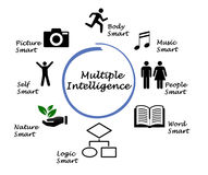 Multiple Intelligence. Different manifestations of Multiple Intelligence Stock Photography