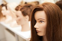 Different mannequin with different hairstyles Royalty Free Stock Photos