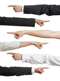 Different mans and womans hands Stock Photography