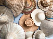 Different of many hat. Hanging on wall Stock Images