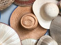 Different of many hat. Hanging on wall Royalty Free Stock Photography