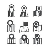 Different map web icons Stock Photo