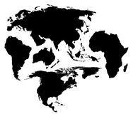 A different map of the world stock image