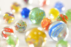 Different marble glass ball Stock Photography