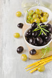 Different marinated olives Royalty Free Stock Photography