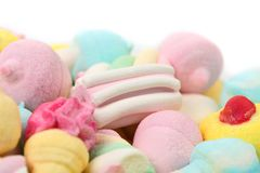 Different marshmallow candies. Royalty Free Stock Photo