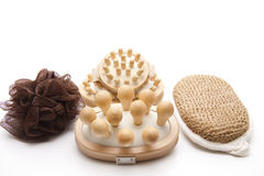 Different massage brushes Royalty Free Stock Image