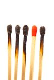 Different matches. Many new and spent matches together. photo icon for integration Stock Photo