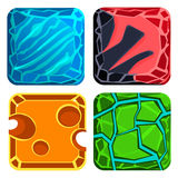 Different Materials and Textures for Game. Gems Stock Photo