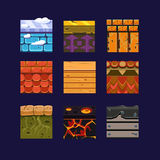 Different Materials and Textures for the Game Stock Image