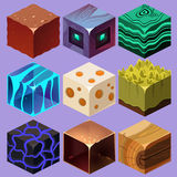 Different Materials and Textures for the Game Royalty Free Stock Image