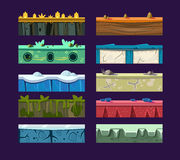 Different materials and textures for the game. Vector flat set Stock Photos