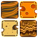 Different Materials and Textures for Game.. Different materials and textures for the game. Vector Illustration Collection Royalty Free Stock Photos