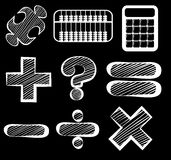 Different mathematical symbols Royalty Free Stock Images