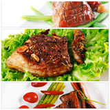 Different meat sets Royalty Free Stock Image