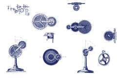 Different mechanical moving parts Stock Photos