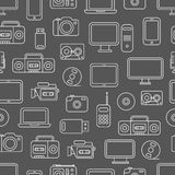 Different media devices seamless pattern Royalty Free Stock Image