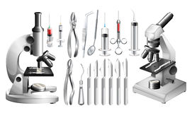Different medical equipments and tools Royalty Free Stock Photo