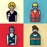 Different men professions Royalty Free Stock Photography
