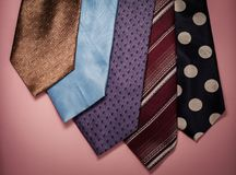 Different men`s ties Royalty Free Stock Image