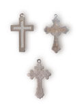Different metal crosses Royalty Free Stock Photography