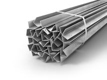 Different metal products. Profiles and tubes. 3d illustration royalty free illustration