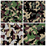 Different military camouflage textures stock illustration