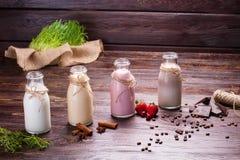 Different milkshakes. Royalty Free Stock Photo