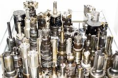 Different milling tools stock photo
