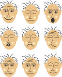 Different mimics. One face with 10 different mimics. This file is also available as EPS-File Stock Photography