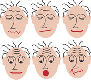 Different mimics. 6 faces with different mimics. This file is also available as EPS-File Stock Photography