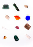 Different minerals on white background Royalty Free Stock Image