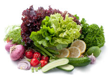 Different mix of fresh vegetables. Stock Image