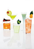 Different mixed drinks Stock Photo
