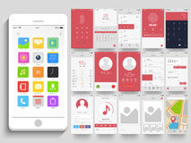 Different Mobile Application UI screens. Stock Image