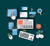 Different modern gadgets Royalty Free Stock Image