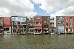Different modern houses in Amsterdam Netherlands Royalty Free Stock Images